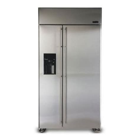 ge  cuft zsgsdm side  side freezerrefrigerator overhead compressor