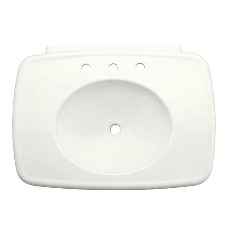 home depot kohler bancroft pedestal sink kohler bancroft ceramic pedestal sink basin in white with