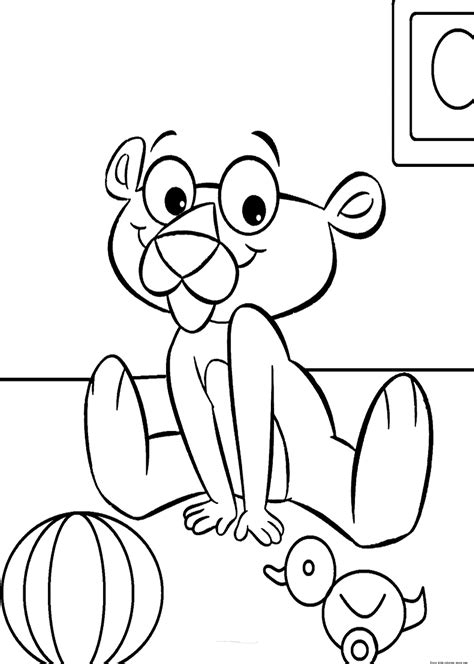 pink panther baby coloring book printablefree printable coloring pages  kids