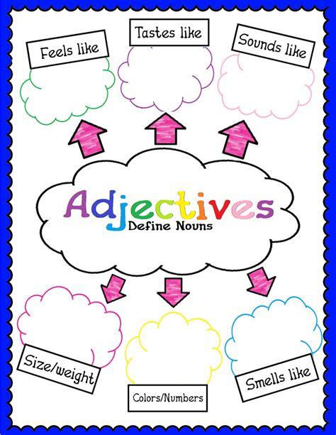 cute adjectives anchor chart  wwwnewliferookie