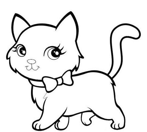 mewarnai gambar kucing gatos para pintar gatito para