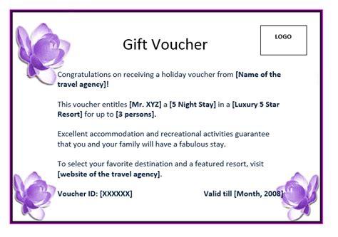 Fantastic Wording For Gift Vouchers Template Sketch - Resume ...