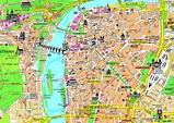 Tourist map of Prague city center | Prague | Czech ...