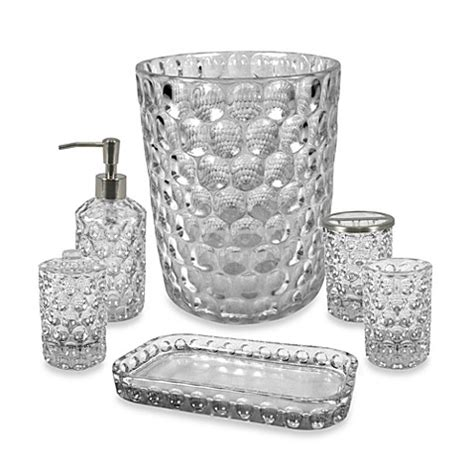 crystal ball glass bathroom accessories  clear bed