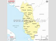 Albania Cities Map, Cities in Albania