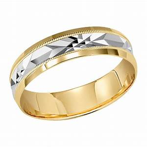 orange blossom milgrain engraved ladies 10kt yellow gold With pewter mens wedding rings