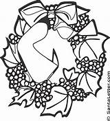 Wreath Coloring Christmas Pages Wreaths Santaletter Print Adults Holiday Funny Coloringpages sketch template