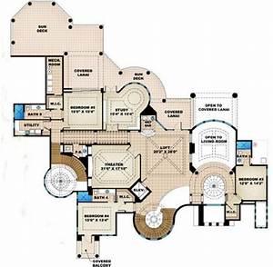 5 Bedroom  7 Bath Beach House Plan -  Alp-08ce