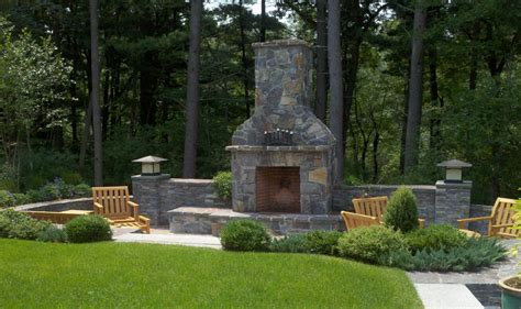 patio chimney pit fireplace design ideas