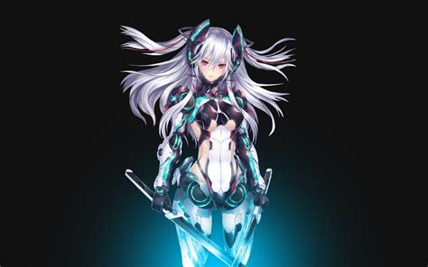 Anime Mecha Wallpaper - mecha anime silver hair sword
