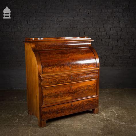 secretaire baise bureau 19th c continental mahogany bureau secretaire with inlaid detail