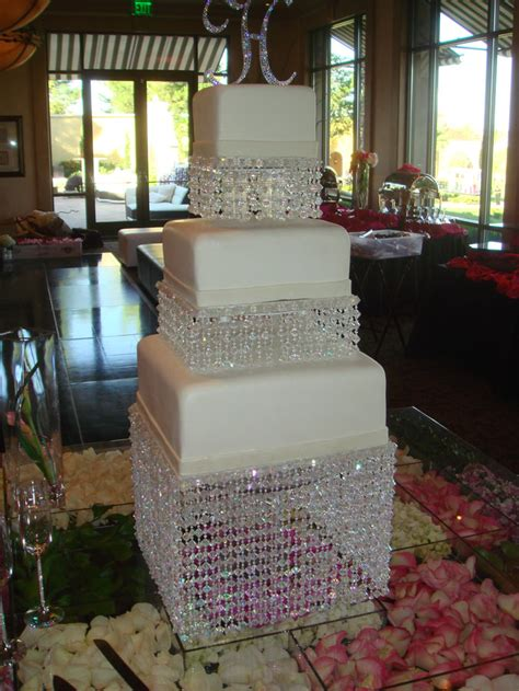 bling wedding cakes ideas for black hot pink and bling wedding colors