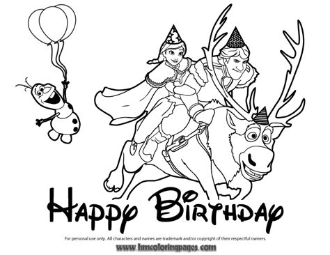 Disneys Frozen Character Coloring Pages