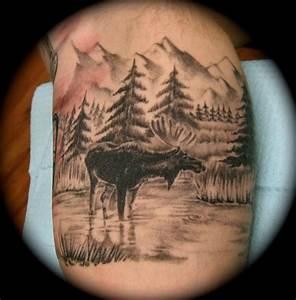 moose tattoo | Ryan Cogswell Tattoo Gallery | Body Art ...