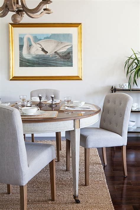 tufted dining chairs eclectic dining room design sponge