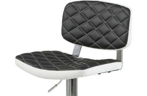 canapé cuir fabrication allemande lot de 2 tabourets design en simili cuir noir et blanc