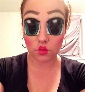 Creepy doll makeup | Holiday~ol' hallow's eve | Pinterest