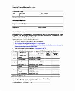 financial declaration form 12 scholarship declaration With declaration document template