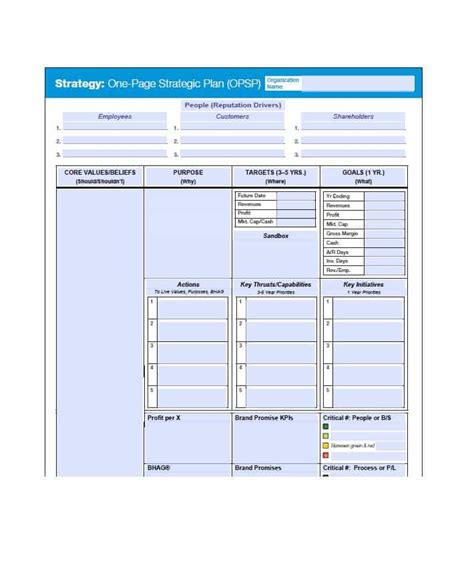 Strategic Plan Template 32 Great Strategic Plan Templates To Grow Your Business