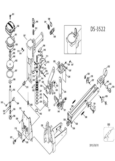 Bostitch DS-3522-Type-0 Parts List | Bostitch DS-3522-Type