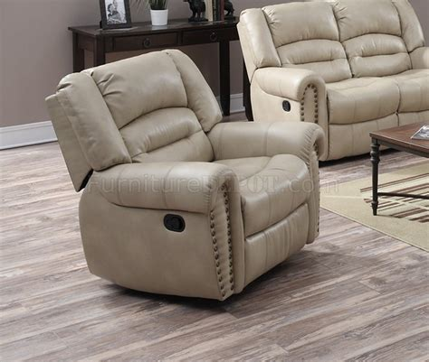 beige leather loveseat g687 motion sofa loveseat in beige bonded leather by