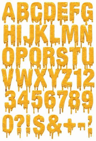 Font Molten Melting Dripping Alphabet Fonts Handmadefont