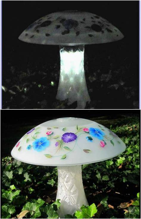 solar mushroom garden lights 20 solar light repurposing ideas to brighten up your