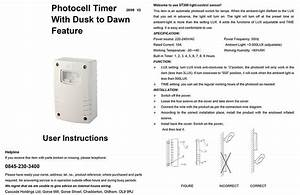 Outdoor Photocell Timer W   Dusk To Dawn Feature