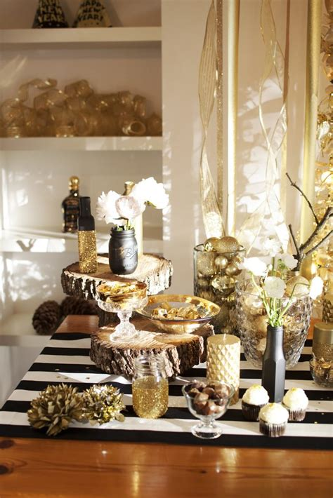 decorating ideas for new years eve a new year s gold the sweetest occasion