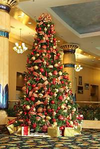Red, And, Gold, Christmas, Tree