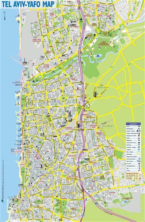 tel aviv sightseeing map