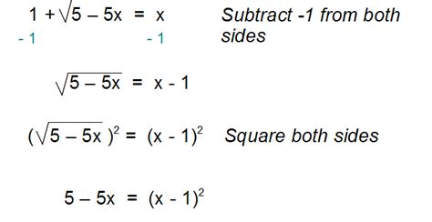 117  Solving Square Root Equations  Mr K's Dragon Math For Algebra 2