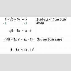 117  Solving Square Root Equations  Mr K's Dragon Math For Algebra 2