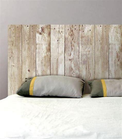 d o chambre adulte peinture sticker mural tête de lit planches de bois sticker pas