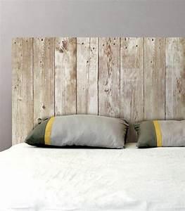 Planche De Bois Brut Pas Cher : sticker mural t te de lit planches de bois sticker pas ~ Dailycaller-alerts.com Idées de Décoration