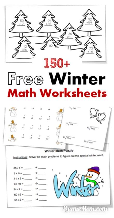 Free Winter Math Worksheets  Free Homeschool Deals