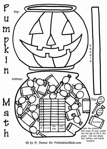 Math Halloween Pumpkin Coloring Activity Activities Graph
