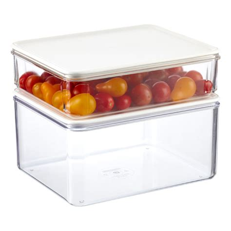 stackable kitchen storage containers modulbox food storage with white lids the container 5685