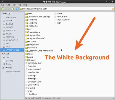 gnome    change  white background   file