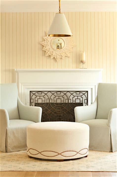 geometric fireplace screen traditional living room