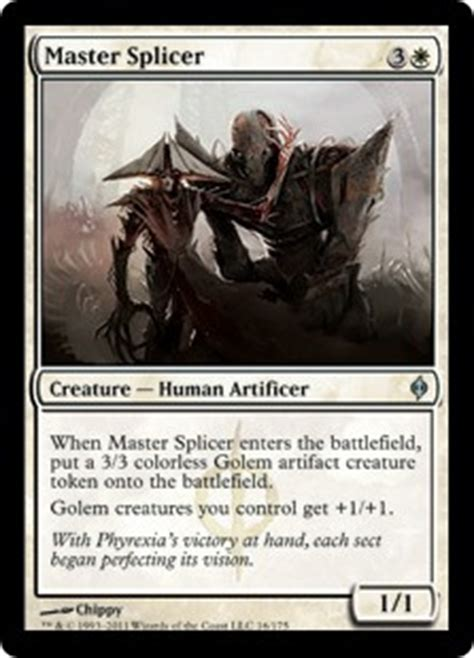 Mtg Golem Token Deck by Master Splicer New Phyrexia Gatherer Magic The