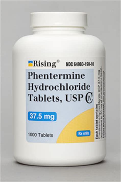 phentermine hydrochloride tablets usp rising