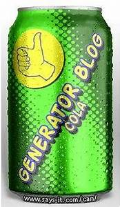 The Generator Blog Soft Drink Can