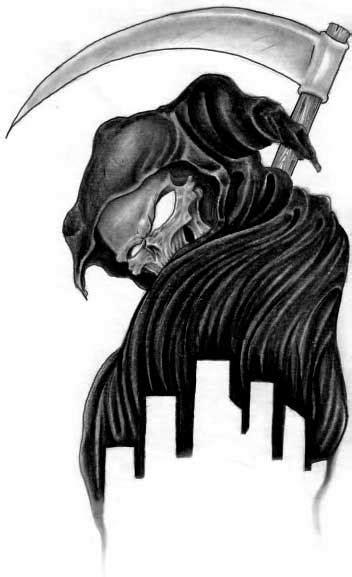 Lady Grim Reaper Tattoo Design » Tattoo Ideas