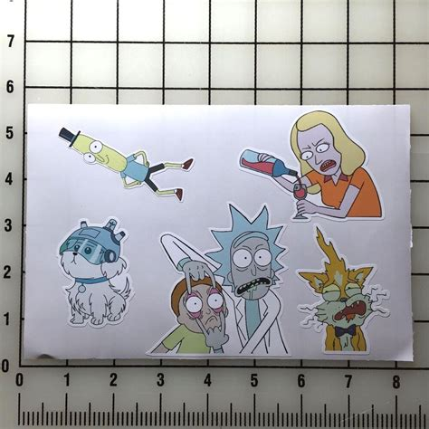 rick  morty    vinyl decal sticker set ebay