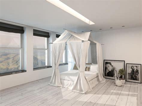 da letto con baldacchino interno moderno della da letto con un letto a
