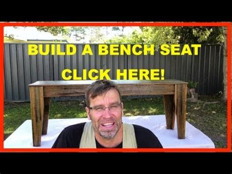 build  bench seat rustic recycled wood furniture