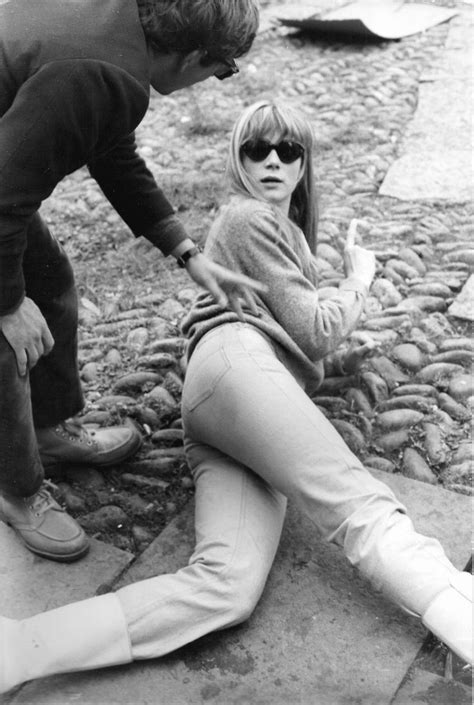 francoise dorleac roman polanski roman polanski fran 231 oise dorl 233 ac on the set of cul de