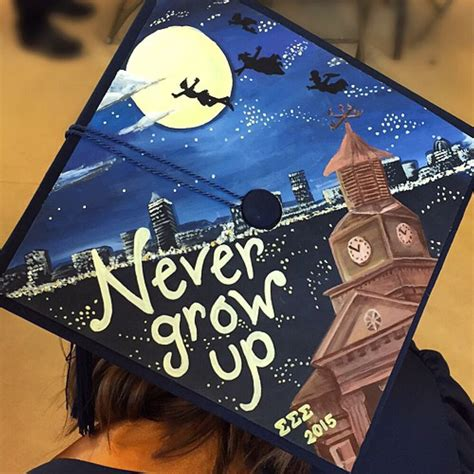peter pan inspired graduation cap art stuffs