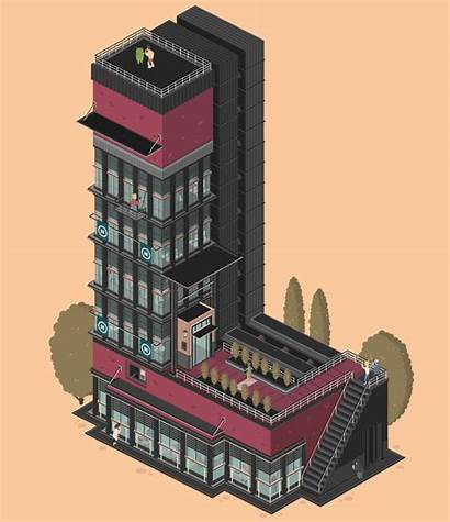 Letters Architecture Animated Gifs Buildings Creative Behance